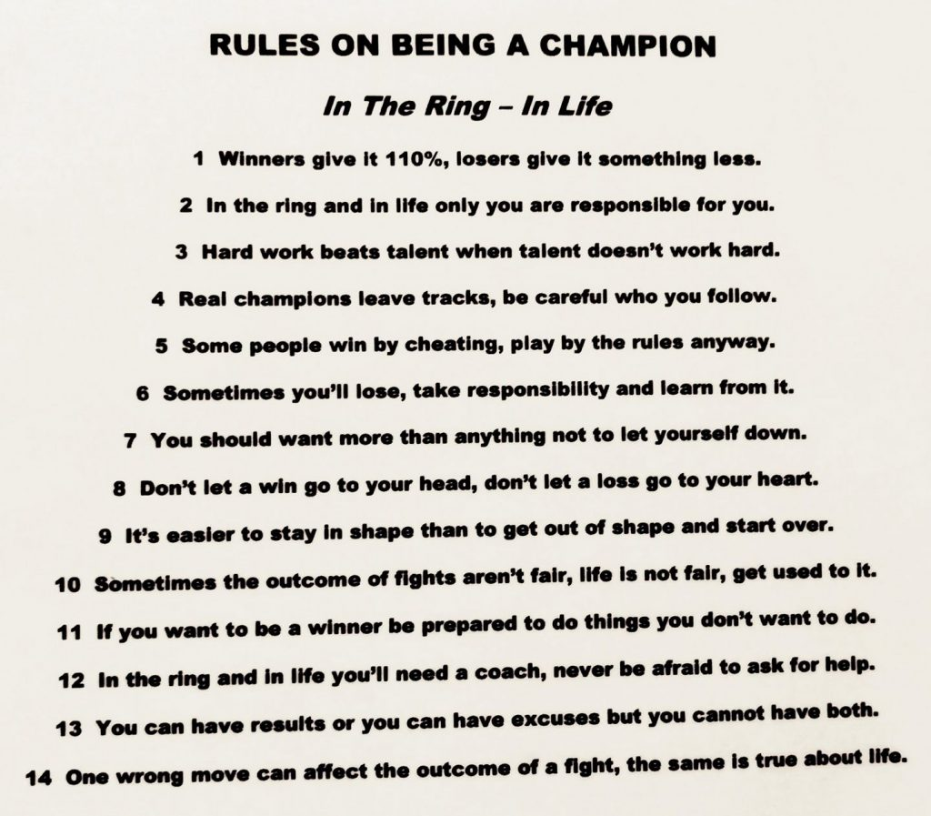 Rules On Becoming a Champion