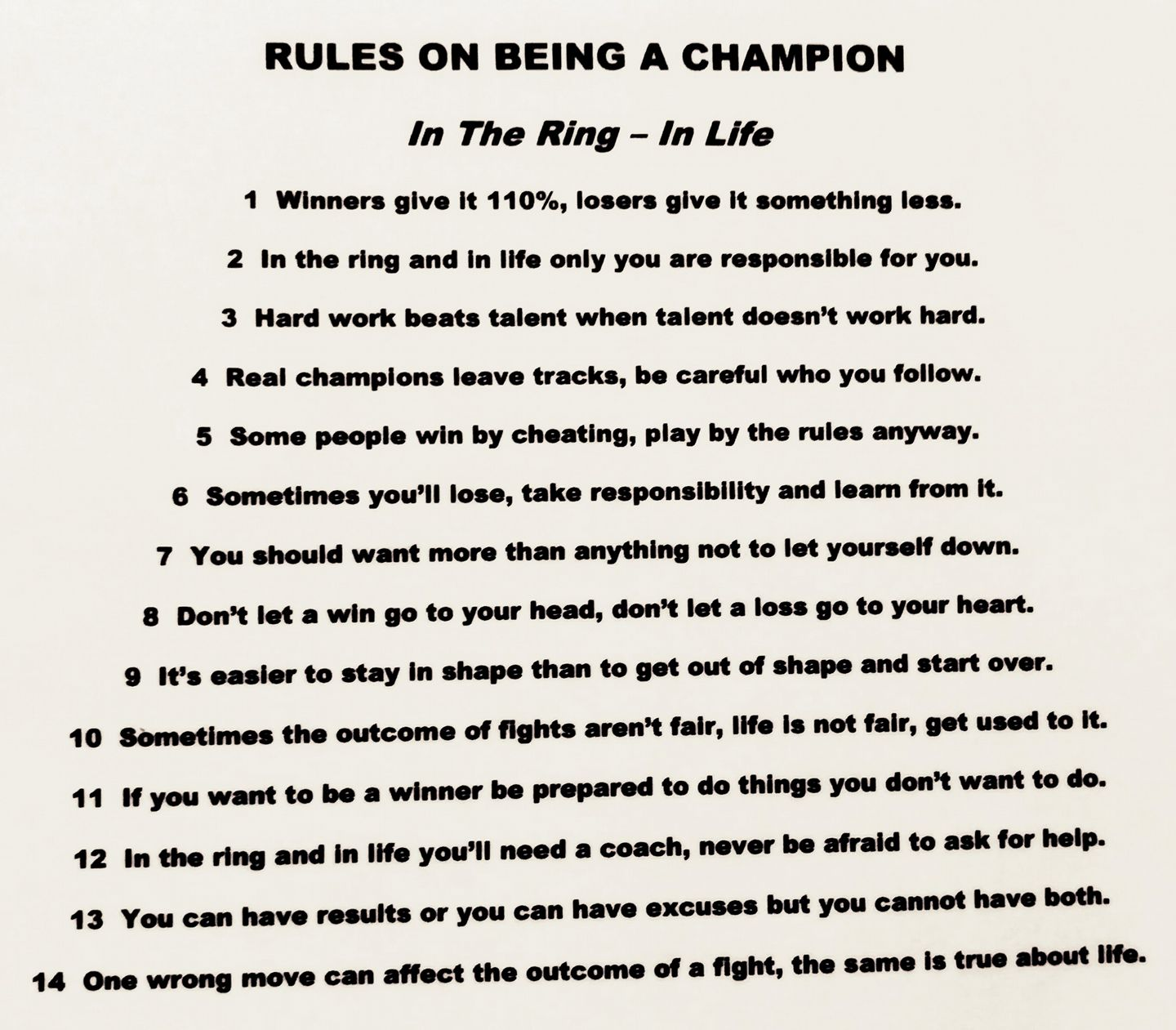 How To Be a Champion.